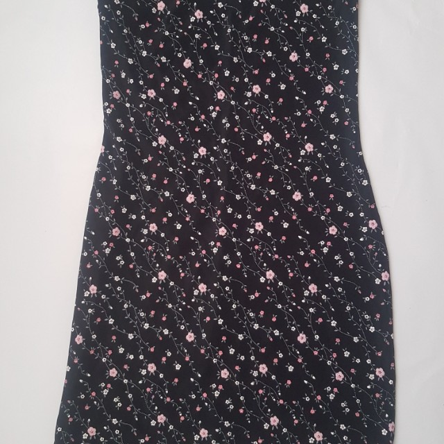 Charlotte Ruse Floral Strapless Dress