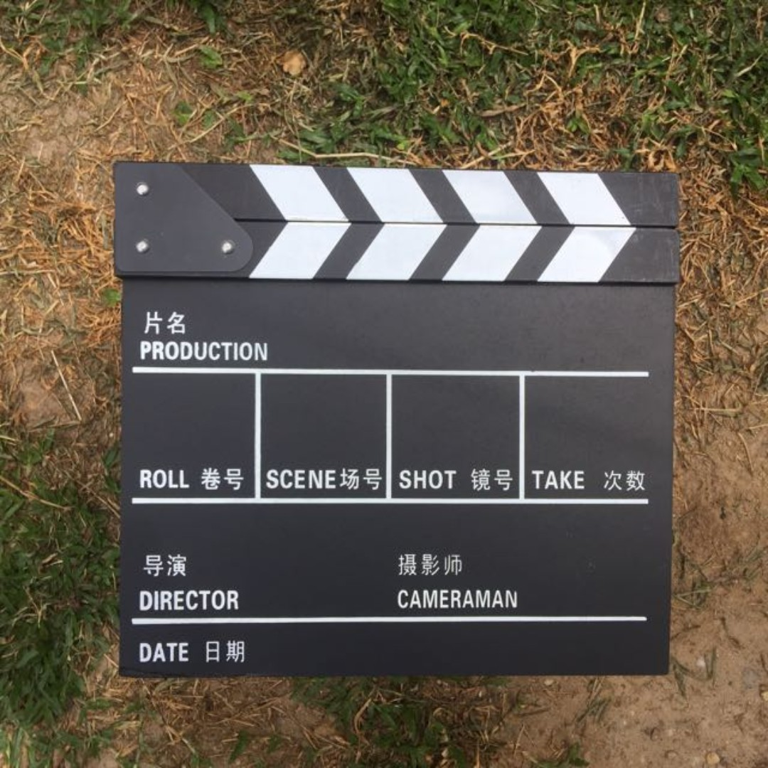 ClapperBoard Movie Slate Clapper ( Wooden Clapper Board ) ( Made of Wood )
