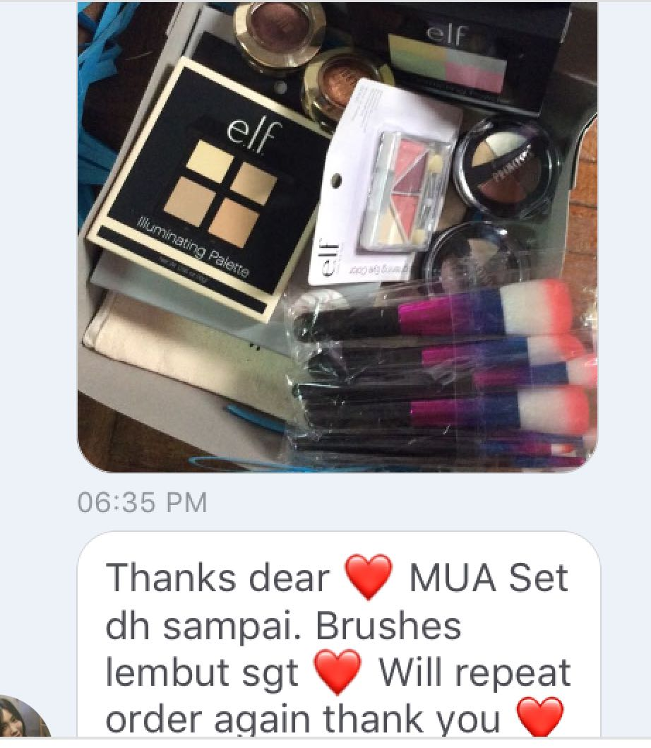 CUSTOMER REVIEW ❤️ MUA MAKE UP SET