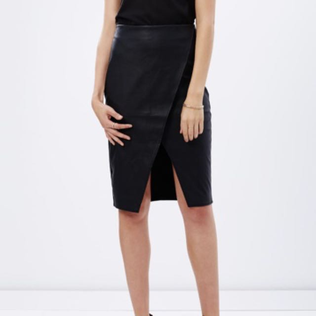 Dorothy Perkins wrap leather skirt