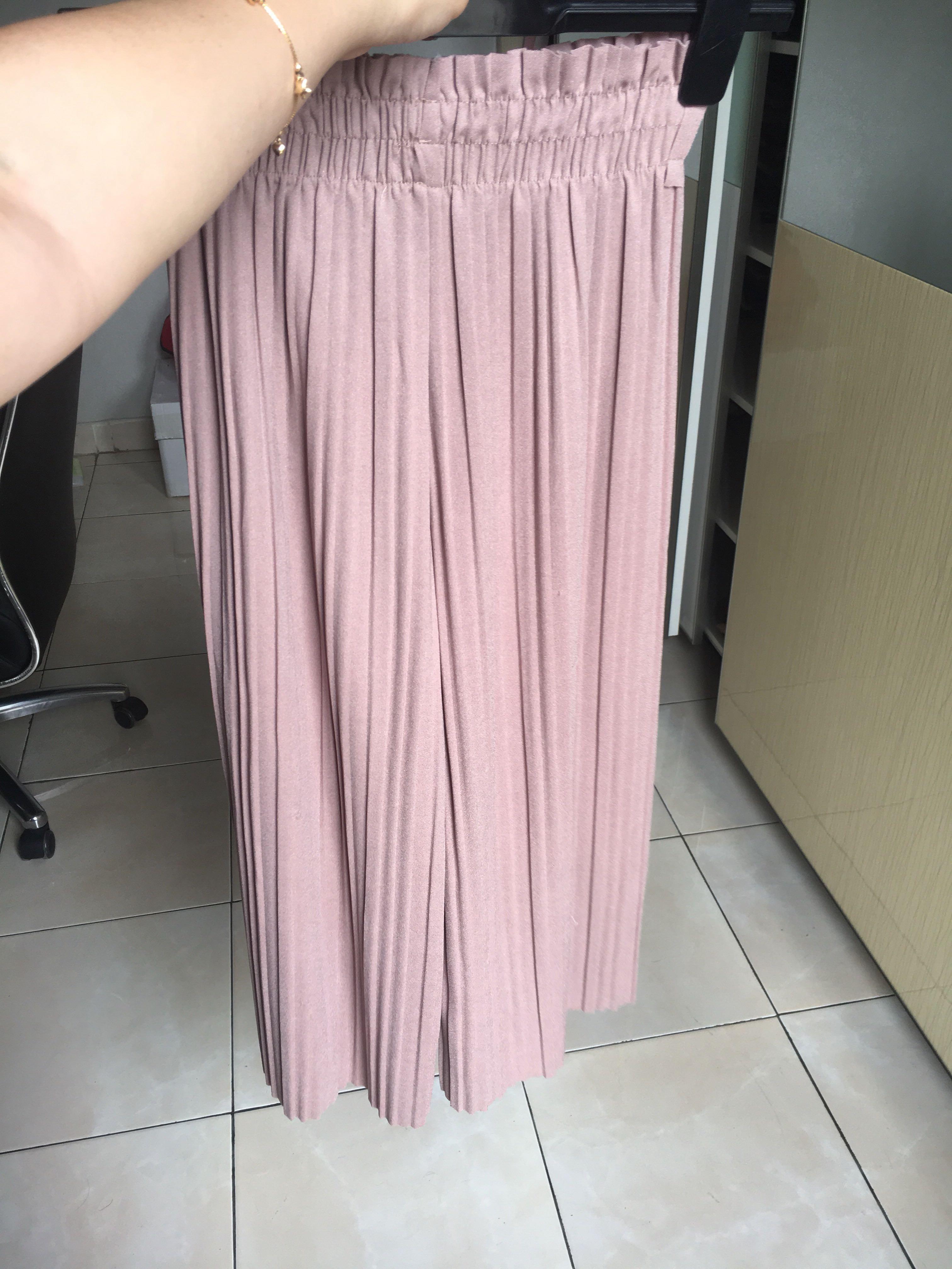 Dusty pink kulot pants prisket