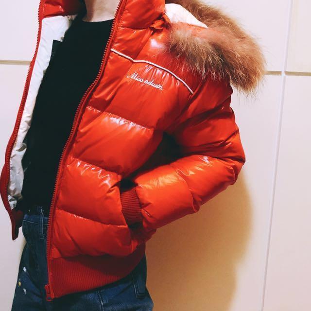 EDWIN 紅色羽絨外套
