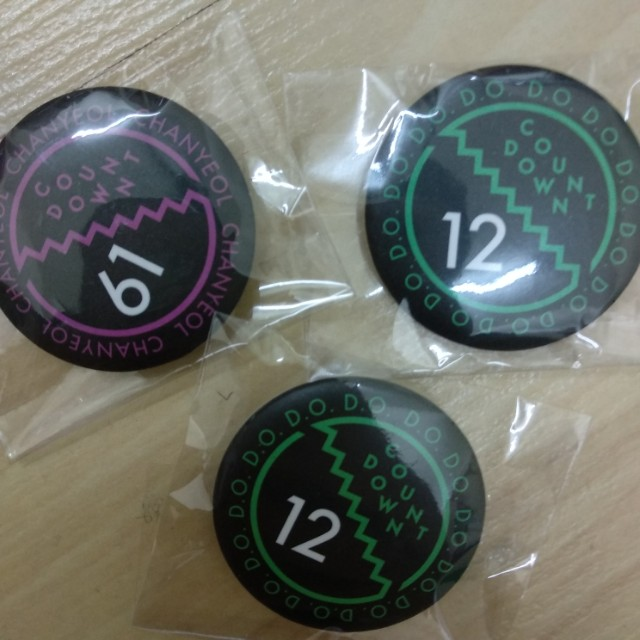 EXO Official Countdown Badge
