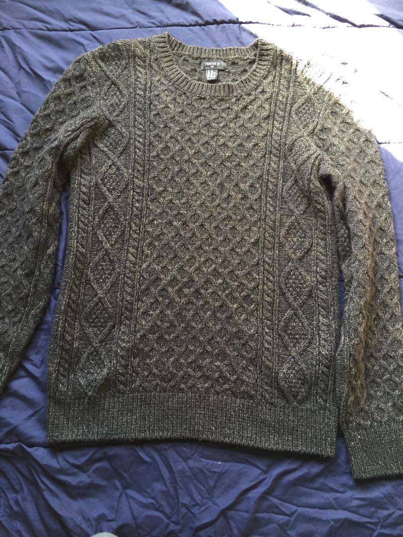 F21 Cable Knit Sweater
