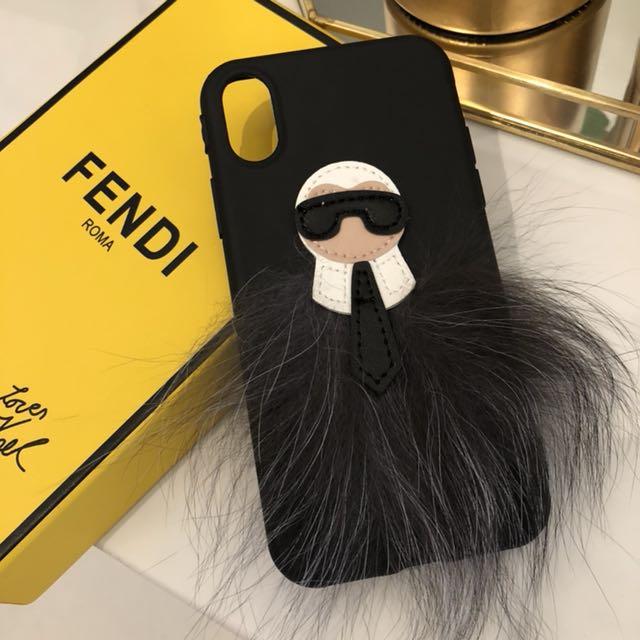 cheaper e068f d1622 Fendi Karl Lagerfeld iPhone X case