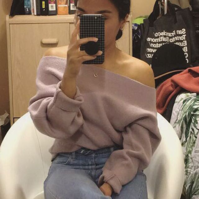 Forever 21 off the shoulder sweater
