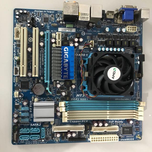 GA-MA785GMT-US2H  &  AMD X2 250