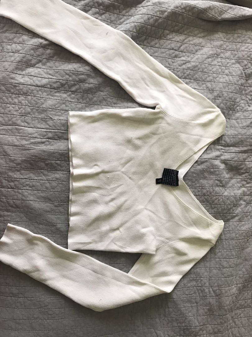 General pants white thick crop