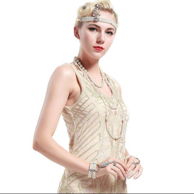 Gold Great Gatsby Dress 1920 Tels Women S Fashion Clothes Dresses Skirts On Carou
