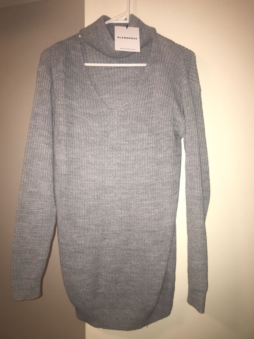 Grey knit top/dress