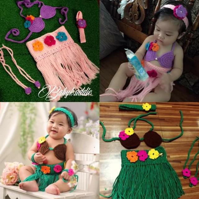 Hawaiian crochet costume