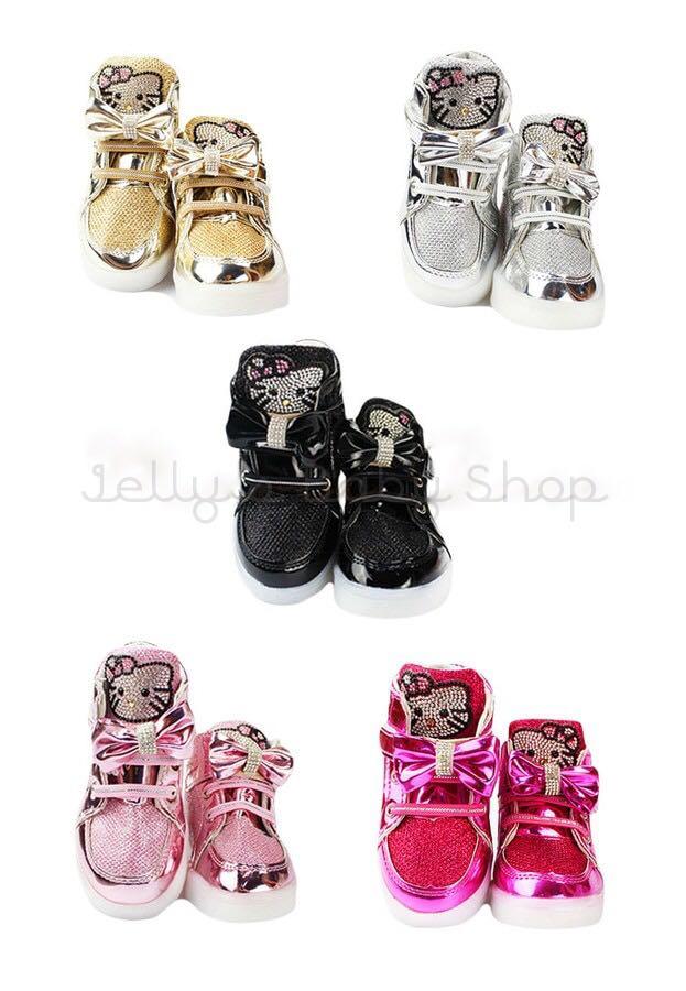 Hello Kitty Studs Kids Lighting Shoes