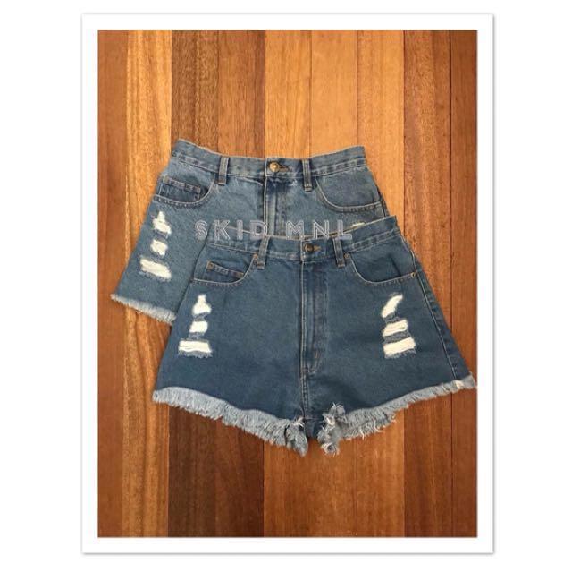 Highwaist Ripped Shorts
