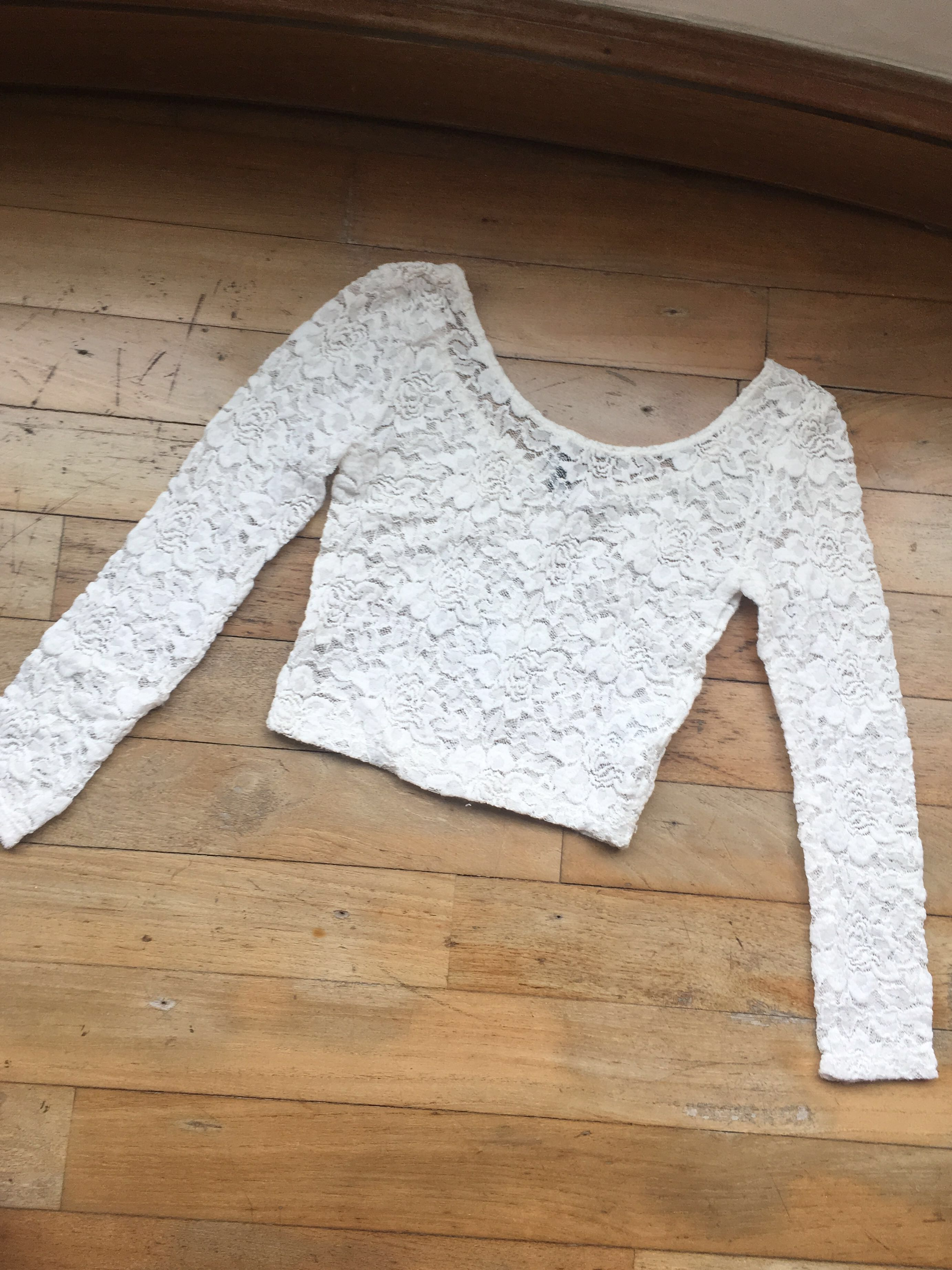 H&M Lace Croptop in White