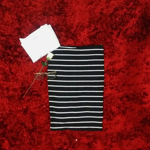 H&M Striped long pencil skirt (O.P. 250)
