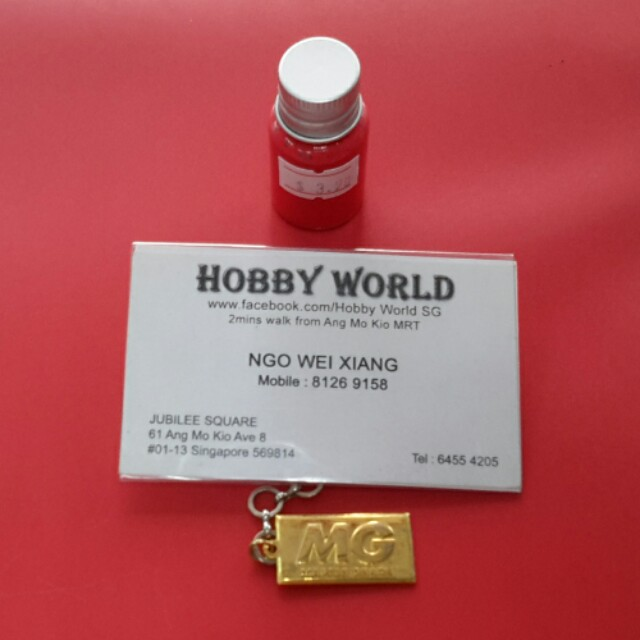 Hobby World Acrylic Red Paint 10ml (Water Solvent Base)