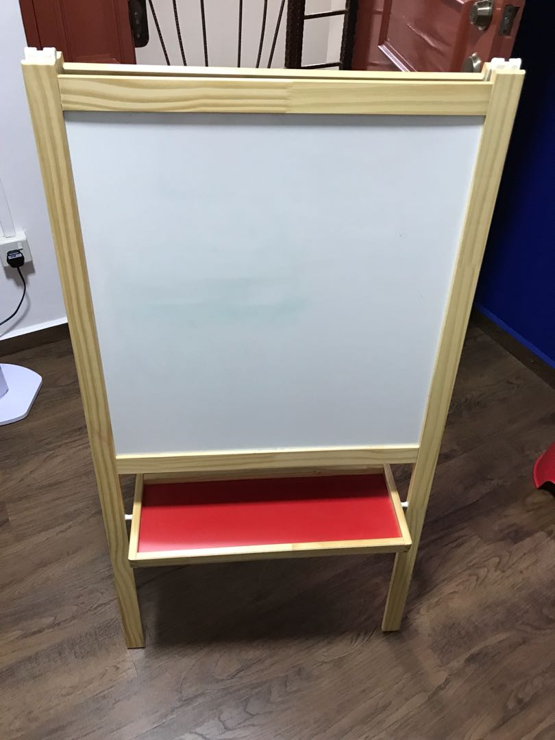 Ikea easel black and white board