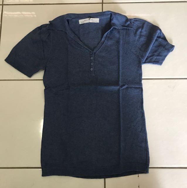 Kemeja Biru Zara