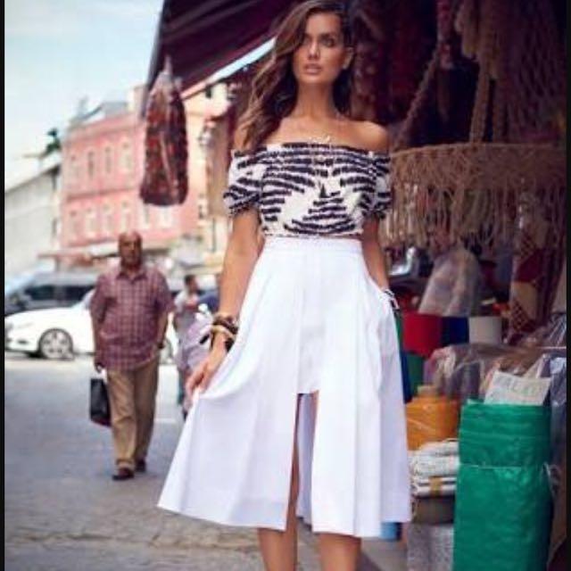Kookai 2016 Srping campaign skirt