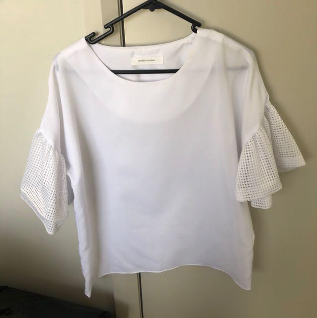 Korean Flare Sleeve top