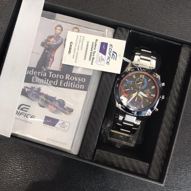 Limited Edition Casio Edifice Red Bull Racing Scuderia Toro Rosso EFR557TR  FREE DELIVERY a37c4e5784ba