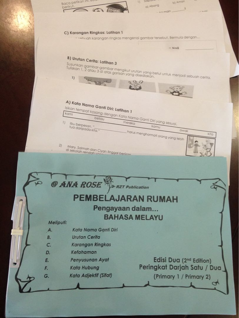 Malay Enrichment Worksheets 2nd Edition Primary 1/Primary 2, Books ...