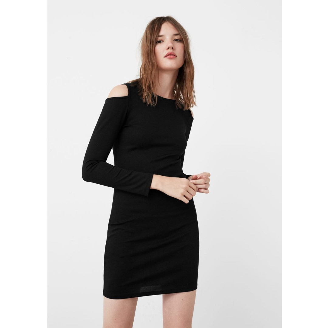 Mango Black Bodycon Dress