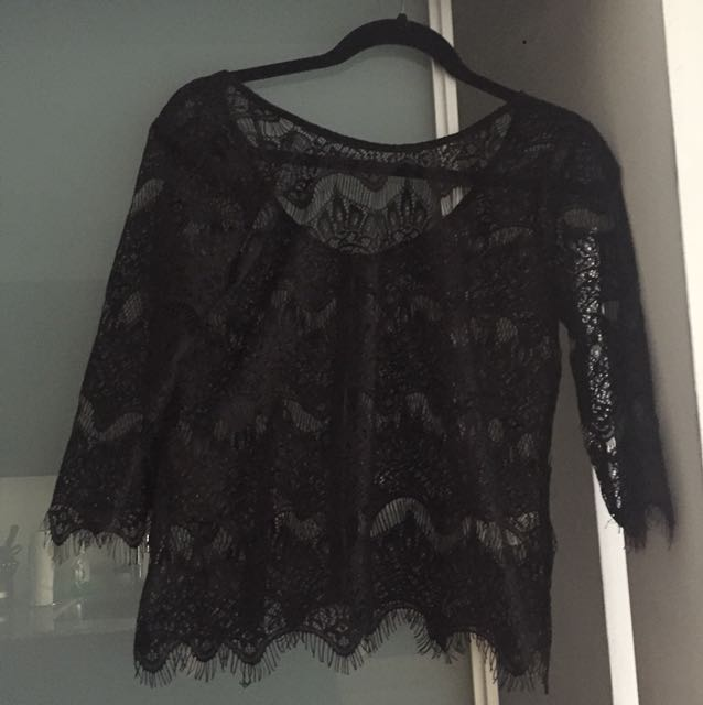 Material girl lace top