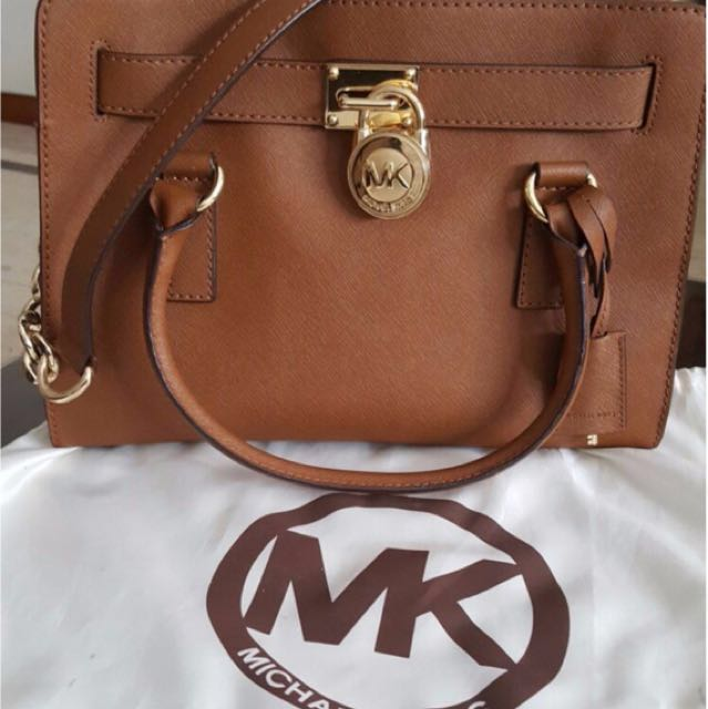 23e0bbe99b66 Michael Kors Large Hamilton Saffiano Leather Satchel