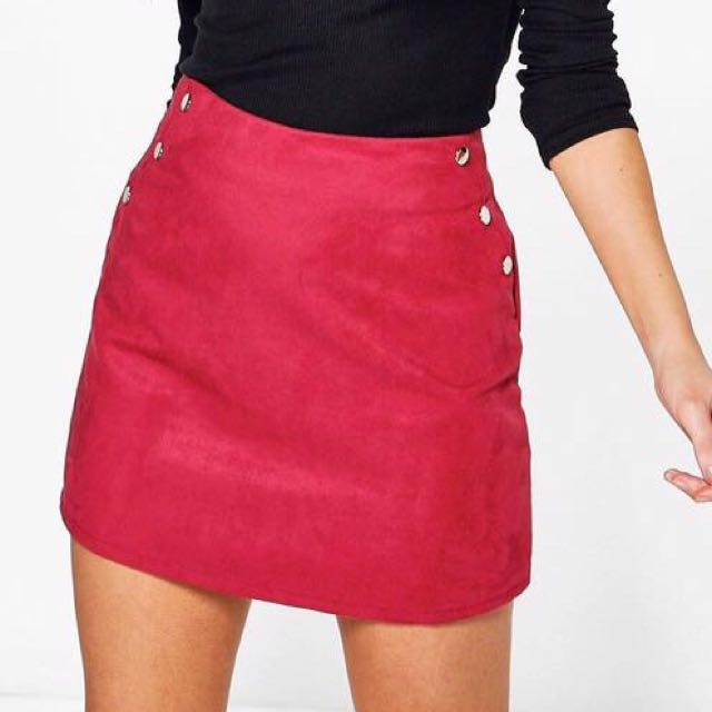 NEW BERRY SUEDE SKIRT