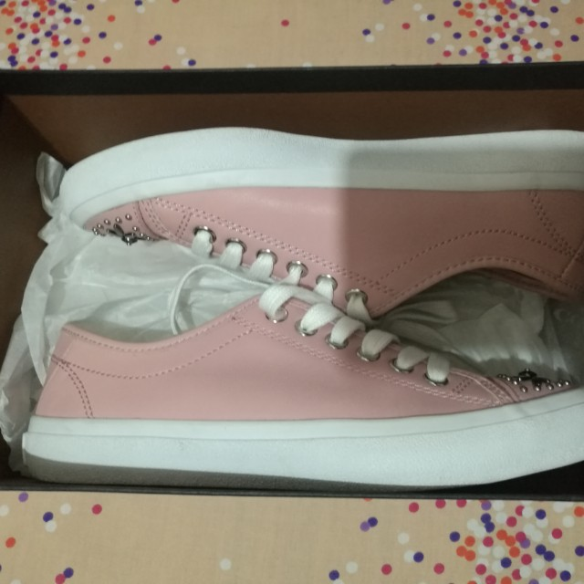 Original Coach Elle Mat Calf Pink Sneakers