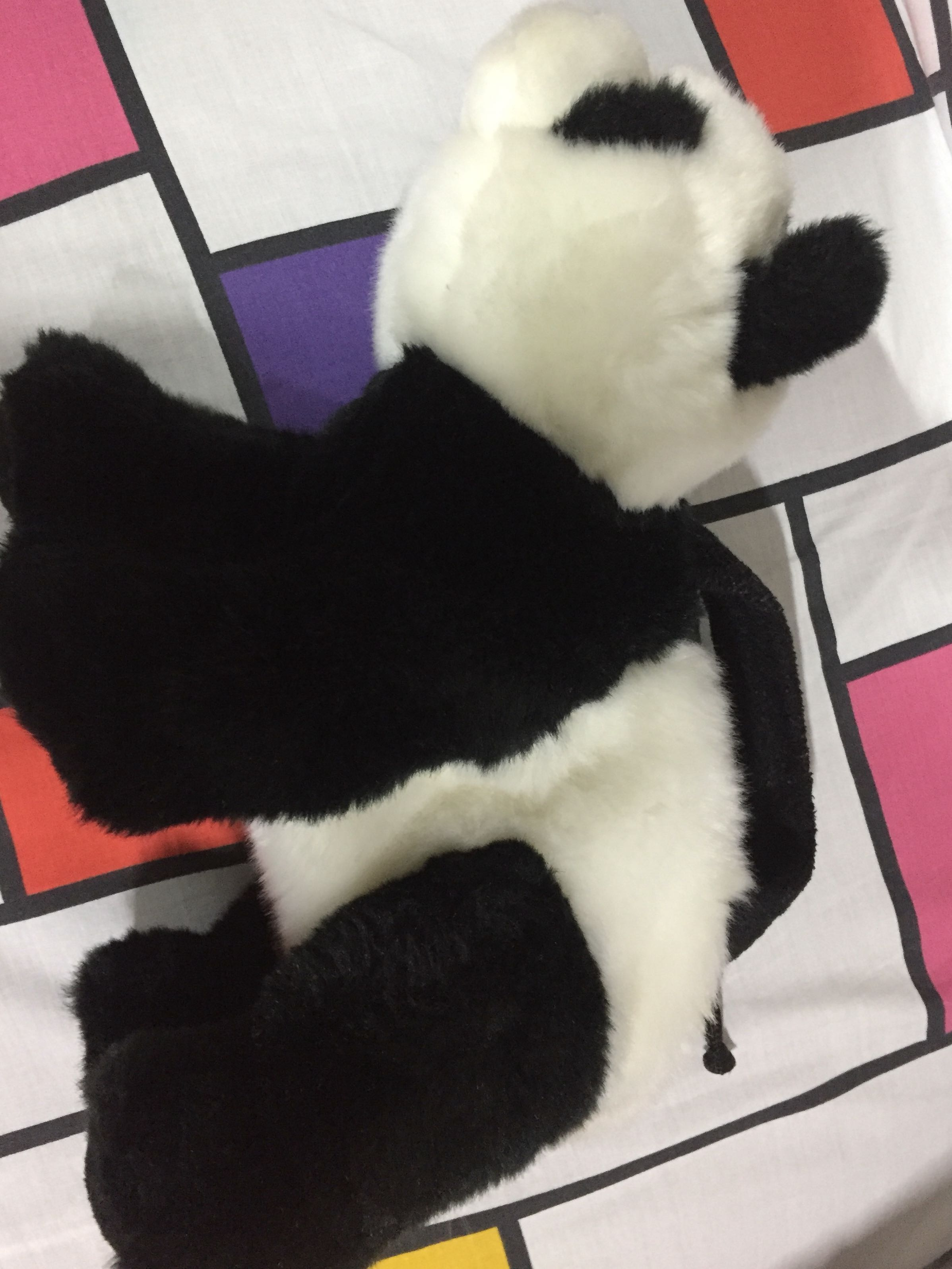 Panda stuff toy bag
