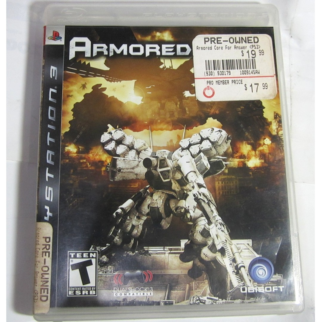 Playstation 3 Game PS3 ARMORED CORE Original - used