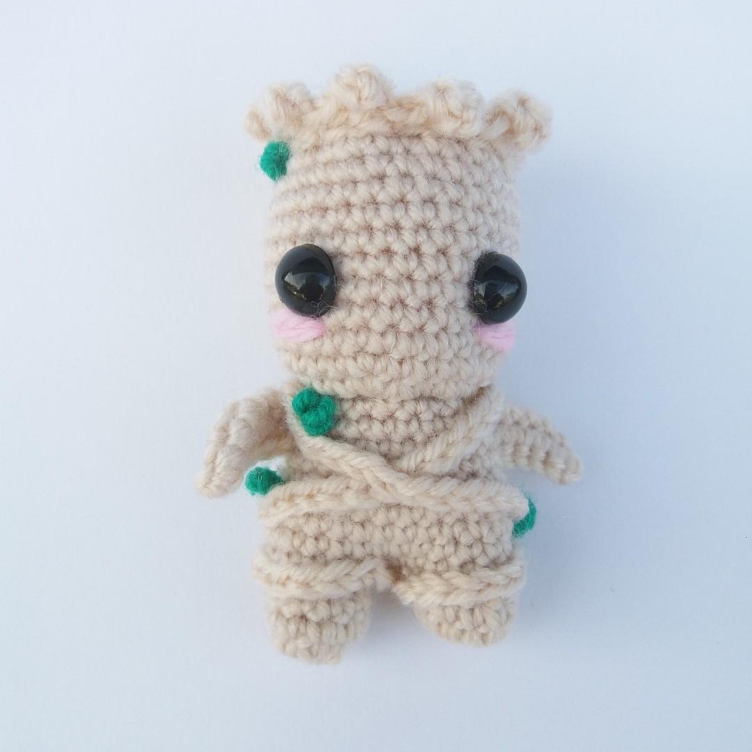 1b8b782ef PLUSHIE Ready To Ship: Mini Baby Groot (Crochet Amigurumi)