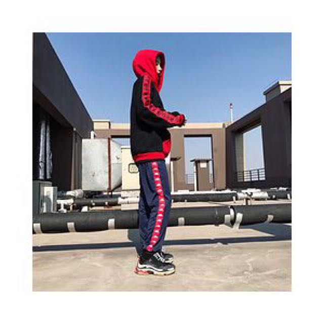 Pre order Kappa Navy tracksuit paints