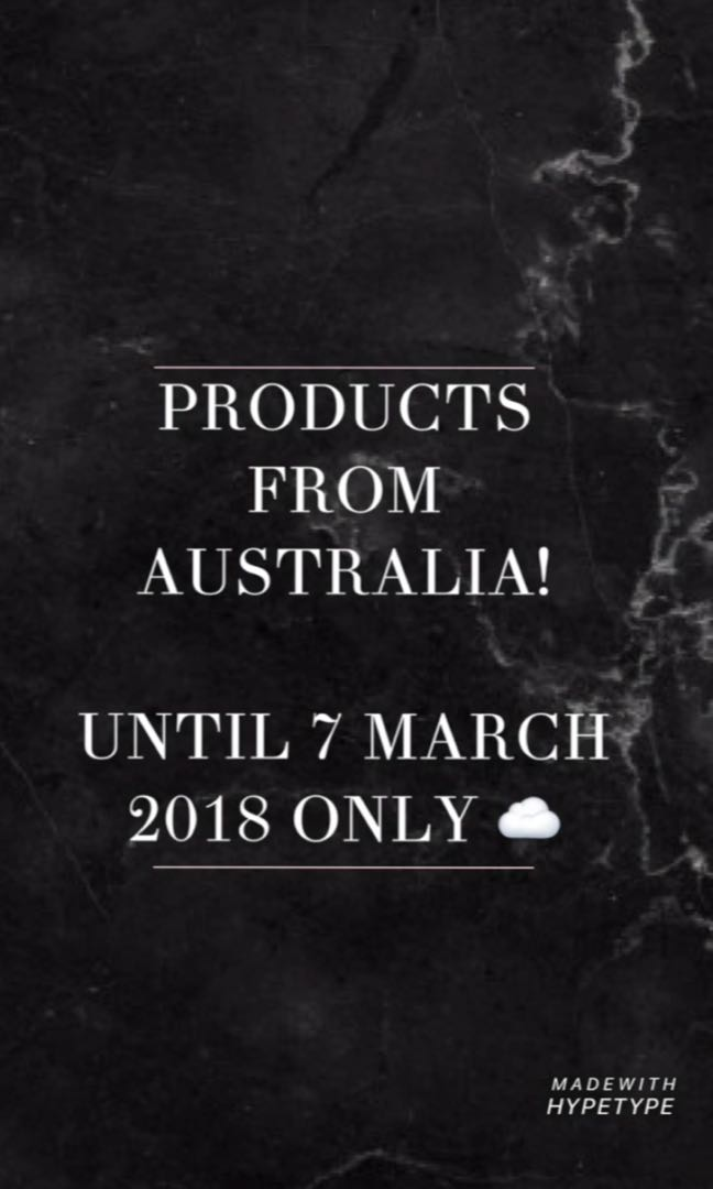 PRODUCTS FROM AUSTRALIA