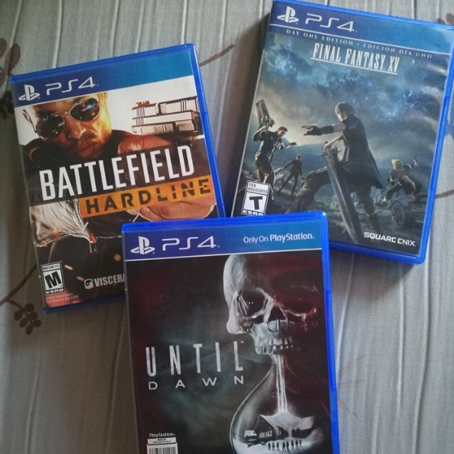 PS4 Games Final Fantasy XV, Battlefield Hardline, Until Dawn