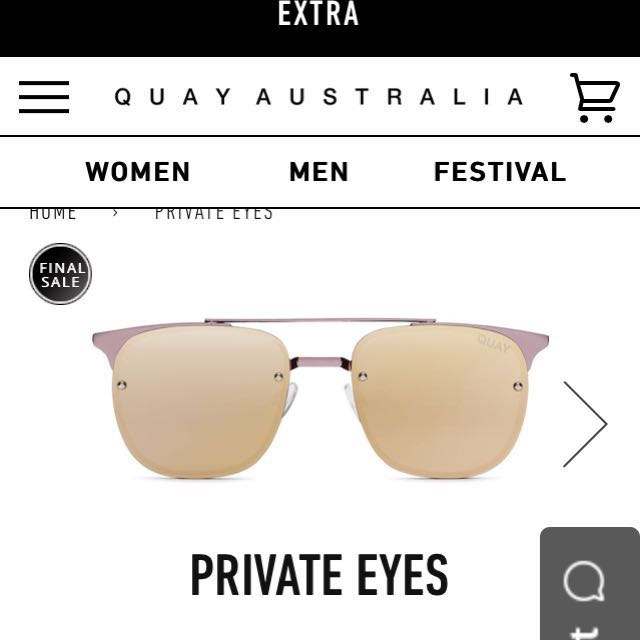 Quay Sunnies Private Eyes