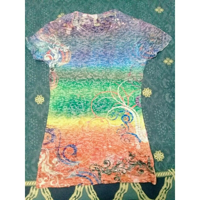 rainbow color casual shirt