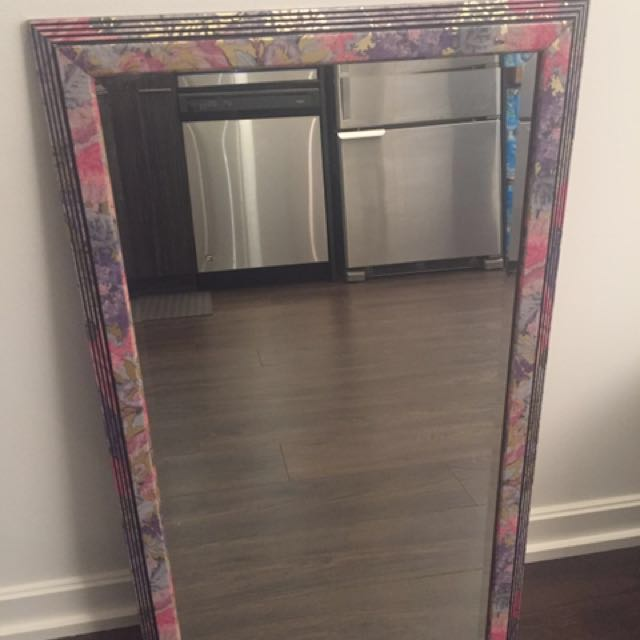 Rare Beautiful Floral Mirror