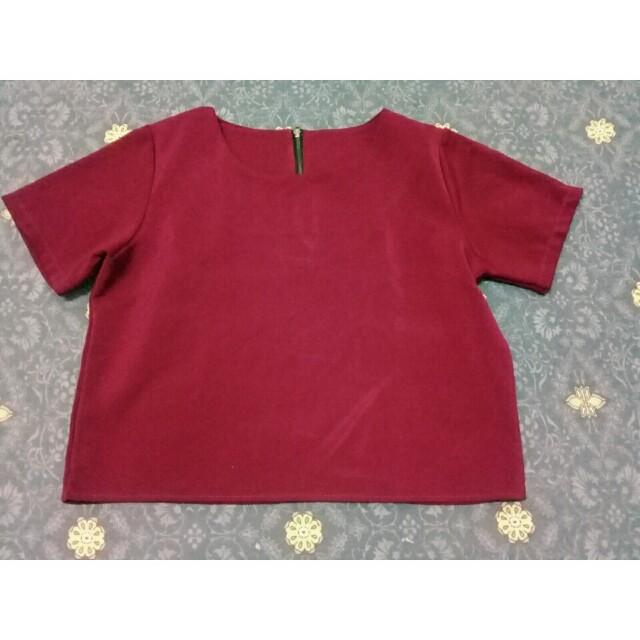 Red Top maroon crop top