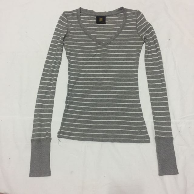 REPRICED!!!! Solo gray stripes longsleeves