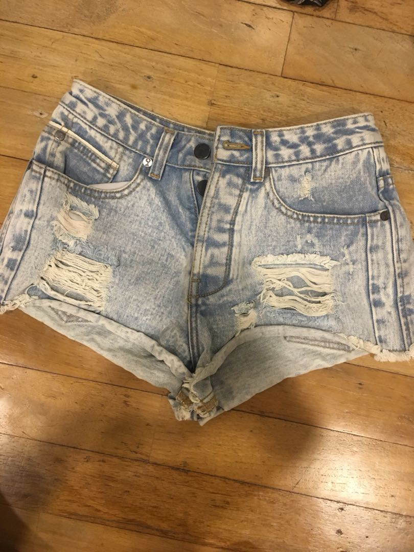 Ripped Denim Short