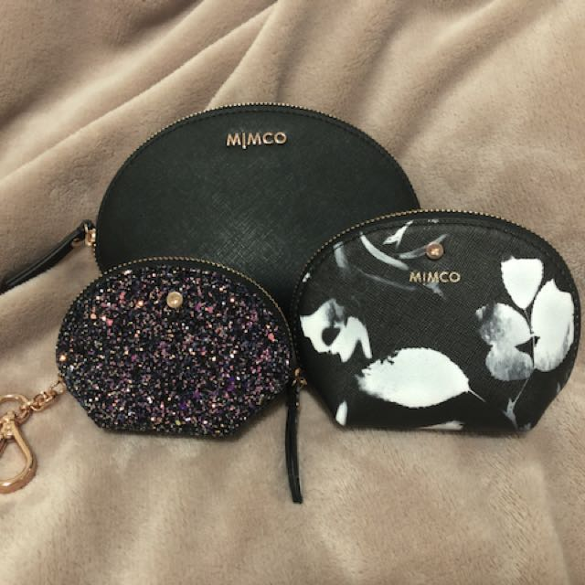 Set of 3 Mimco cosmetic cases