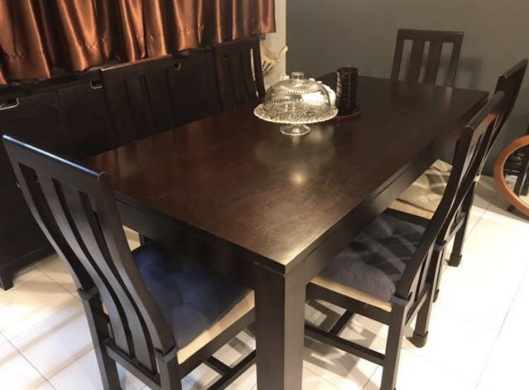 Solid Bali Teak Dining Table With 6 Chairs Furniture Tables