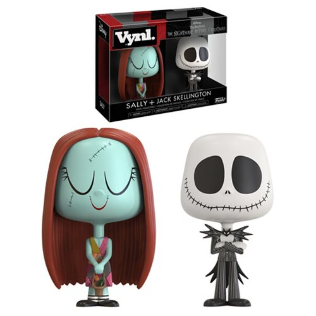 The Nightmare Before Christmas Jack and Sally VYNL Figure 2-Pack ...