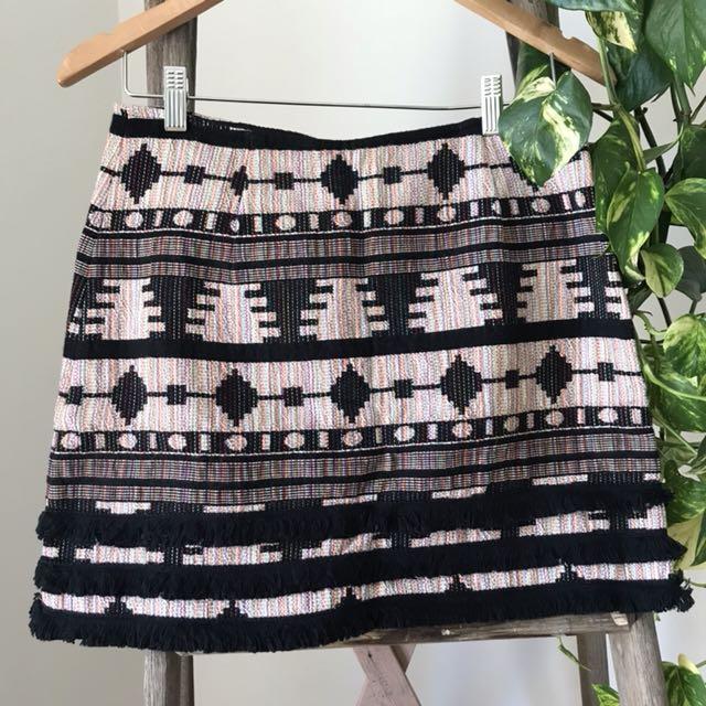 Topshop Aztec mini skirt