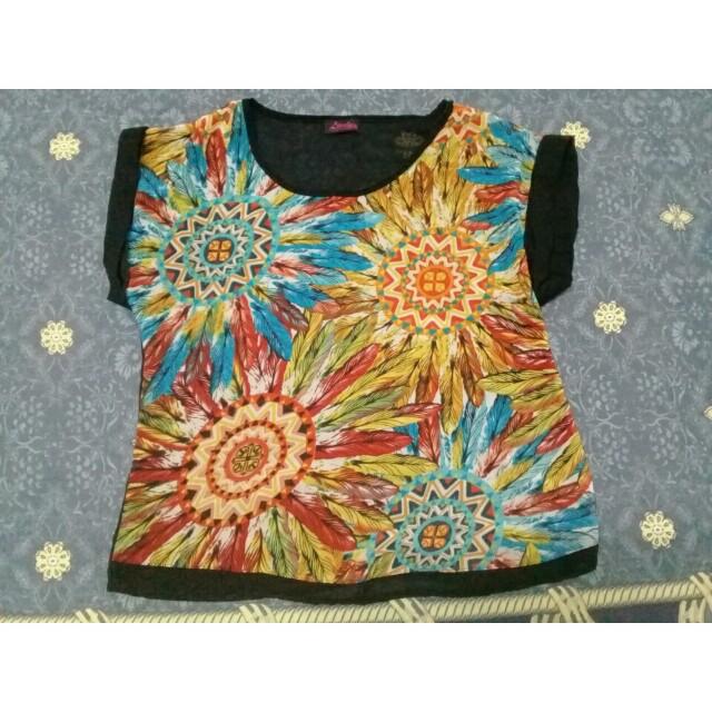 tribal design bohemian top