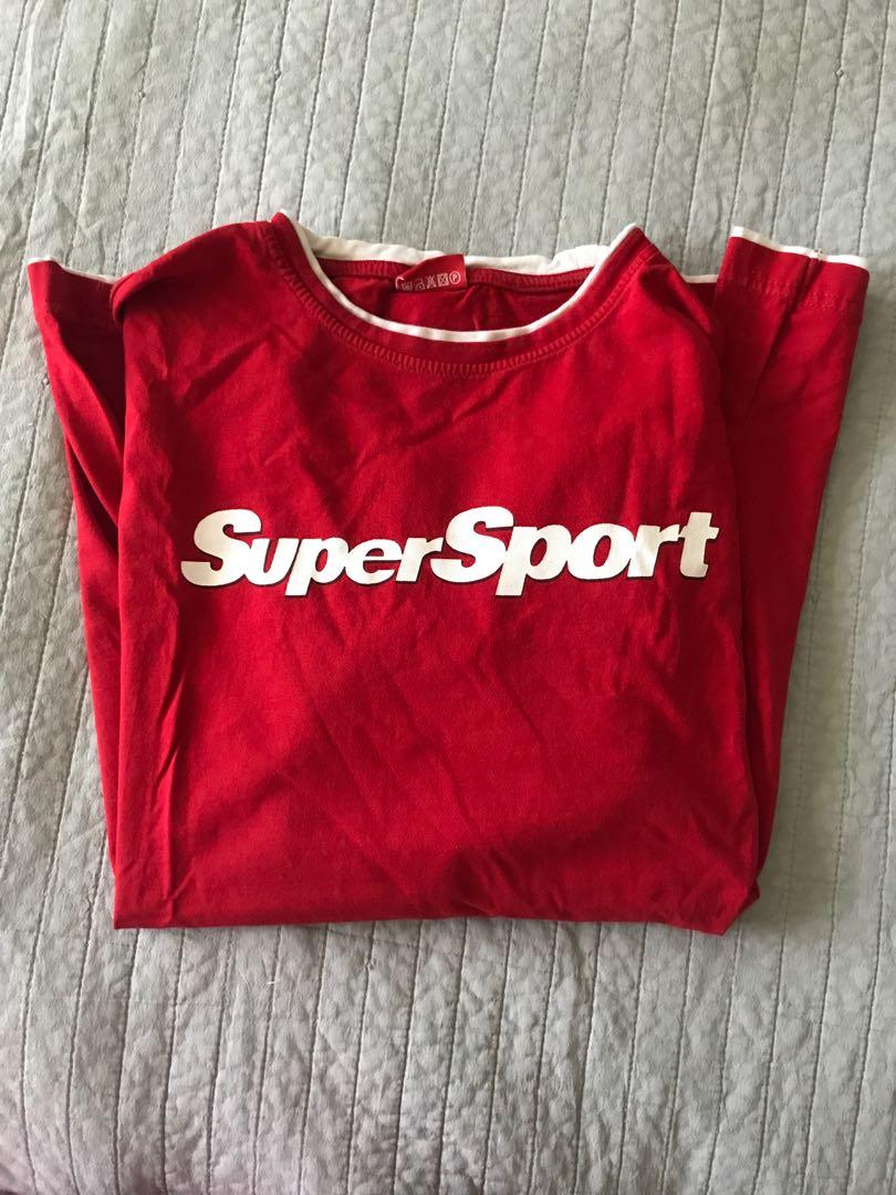 Vintage red super sport tee