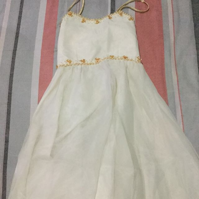 White Gown for Rent, Babies & Kids, Girl\'s Apparel on Carousell